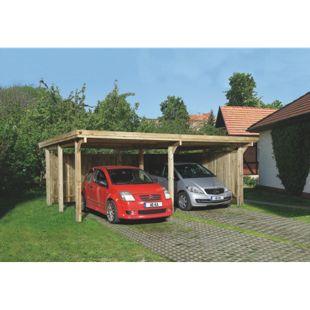 Weka Flachdach-Doppelcarport 618 Gr. 1, ohne Dachplatten