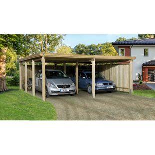 Weka Flachdach-Doppelcarport 618 Gr. 2 ohne Dachplatten