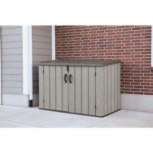 Lifetime Kunststoff Mülltonnenbox und Gerätebox