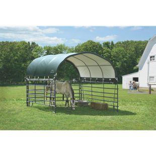 ShelterLogic Weidezelt und Pferdestallüberdachung 13,7 m², grün