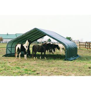ShelterLogic Weidezelt und Unterstand 49,6 m², grün