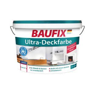 BAUFIX Ultra-Deckfarbe weiß, 5 L