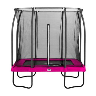 Salta Trampoline - Comfort Edition - rechteckig - 153 x 214cm - 5x7ft - Schutzrand pink