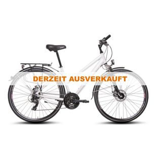 Sachsenring Bike Damen 28 Zoll Alu Trekking Fahrrad 21 Gang Scheibenbremsen weiß