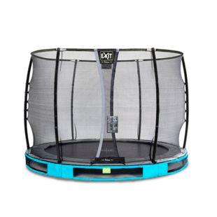 EXIT Elegant Ground 305 (10ft) RUND + Sicherheitsnetz Deluxe blau