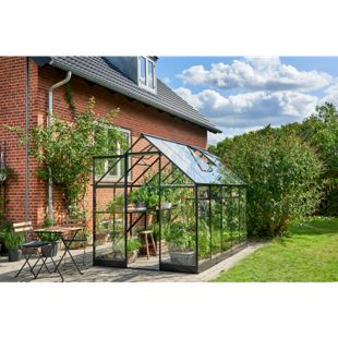 Juliana Gewächshaus Qube 610 6,2 m² mit 3 mm Sicherheitsglas, schwarz