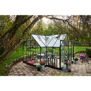 Juliana Gewächshaus Garden Room 12,9 m² mit 3 mm Sicherheitsglas, grün