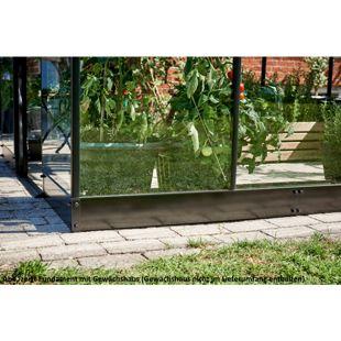 Juliana Qube 610 6,2 m² Gewächshaus-Fundament, schwarz