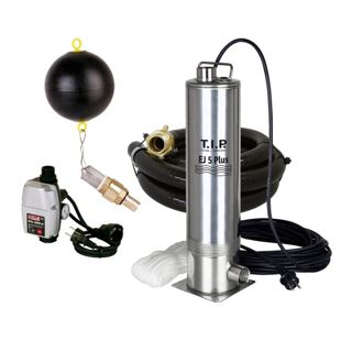 T.I.P. EJ 5 Plus - Zisternen-Tauchdruckpumpe mit Anschlußzubehör und elektrischer Steuerung
