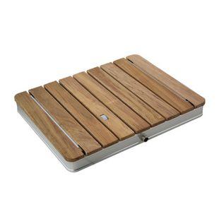 Mobile Gartendusche Bodendusche aus massivem Teak-Holz