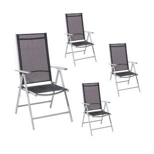 Giardino AY 413 Aluminium-Stuhl 7-fach verstellbar, 4er-Set