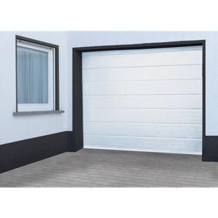 Schellenberg Sektional-Garagentor Komplettset weiß inkl. Torantrieb Smart Drive 10, 237,5 x 212,5 cm