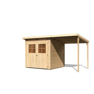 Karibu Gerätehaus Mosbach 3 Set 2, naturbelassen