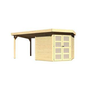 Karibu Gerätehaus Kolm 5 Set 2, naturbelassen