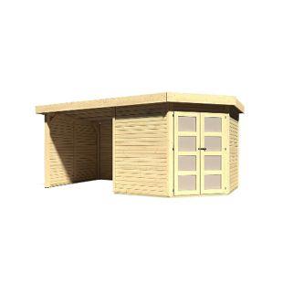 Karibu Gerätehaus Kolm 5 Set 3, naturbelassen