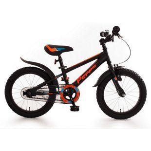 "Bachtenkirch 16"" Kinderfahrrad C-Modell ""Pepp"" matt-schwarz/neon-orange"