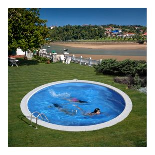 Gre Einbaupool-Set Kuba, Ø 420 x120 cm