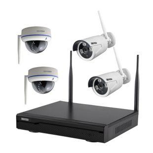 Inkovideo INKO-113M-D Komplettset 4-Kanal Netzwerkrekorder mit 2x Bullet und 2x Dome HD Überwachungskameras