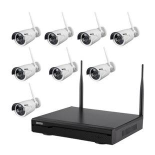 Inkovideo INKO-113M-2B Komplettset 4-Kanal Netzwerkrekorder mit 2 x HD Überwachungskameras