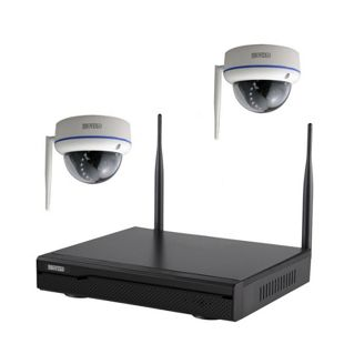 Inkovideo INKO-113M-2D Komplettset 4-Kanal Netzwerkrekorder mit 2 x HD Dome Überwachungskameras