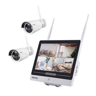 """Inkovideo INKO-AL3003-2 Full HD WLAN Überwachungsset mit integriertem 30,48 cm (12"""" Zoll) Monitor und 2 Überwachungskameras"""