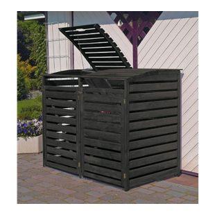 """Promadino Mülltonnenbox """"Vario III"""" für 2 Tonnen, anthrazit"""