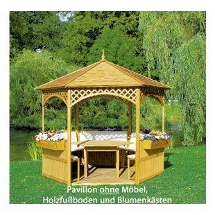 "Promadino Pavillon ""Palma"" mit Holzdach"