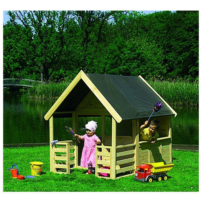 promadino spielhaus moritz mit veranda natur online kaufen. Black Bedroom Furniture Sets. Home Design Ideas