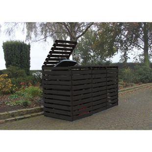 "Promadino Mülltonnenbox ""Vario V"" für 3 Tonnen, anthrazit"