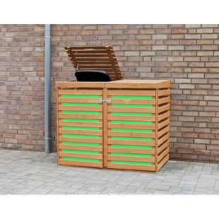 COLOR YOUR OWN Mülltonnendoppelbox CYO K:honigbraun/PVC:grün