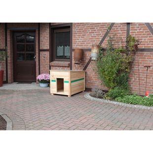 COLOR YOUR OWN Hundehütte CYO Korpus:natur/ PVC:grün