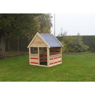 COLOR YOUR OWN Spielhaus CYO Korpus:natur/ PVC:roti