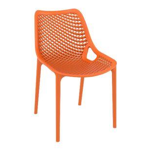 CLP XXL-Bistrostuhl AIR aus Kunststoff I Gartenstuhl mit einer Sitzhöhe von 44 cm I Outdoor-Stuhl mit Wabenmuster I In verschiedenen Farben erhältlich