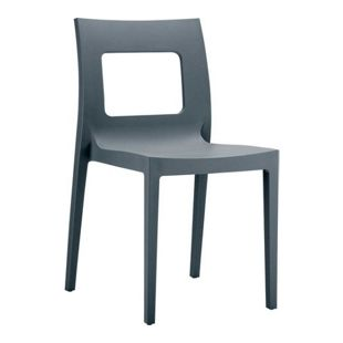 CLP Kunststoff-Gartenstuhl LUCCA XXL | Pflegeleichter Stapelstuhl für den Innen-und Außenbereich | In verschiedenen Farben erhältlich