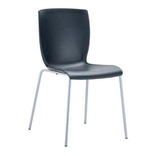CLP XXL-Gartenstuhl MIO mit Aluminiumgestell und Kunststoffsitz I Stapelbarer Bistrostuhl mit einer Sitzhöhe von: 41 cm I In verschiedenen Farben erhältlich