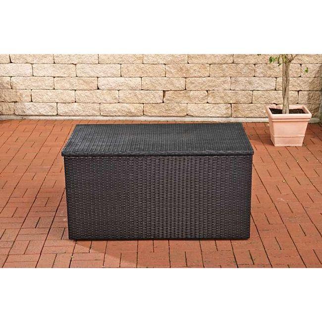 clp polyrattan aufbewahrungsbox gartentruhe f r kissen und auflagen in verschiedenen farben. Black Bedroom Furniture Sets. Home Design Ideas