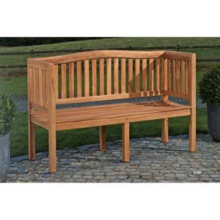 CLP Teakholz-Gartenbank MARVEL V2 mit Lehne I Holzbank für den Garten I In verschiedenen Größen wählbar