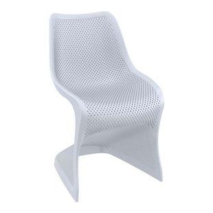 CLP Outdoor-Stuhl BLOOM-XXL aus Kunststoff I Pflegeleichter Freischwinger für den Garten I In verschiedenen Farben erhältlich