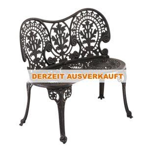 CLP Gartenbank MAHADEV aus lackiertem Eisen I Sitzbank im Jugendstil I Eisenbank mit 2 Sitzplätzen I In verschiedenen Farben erhältlich