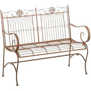 CLP Gartenbank PURUSHA aus lackiertem Eisen I Sitzbank im Jugendstil I Eisenbank mit 2-3 Sitzplätzen I In verschiedenen Farben erhältlich