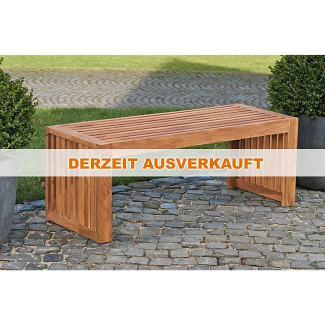 CLP wetterfeste Gartenbank CASUAL aus massivem Teakholz, ohne Lehne ...