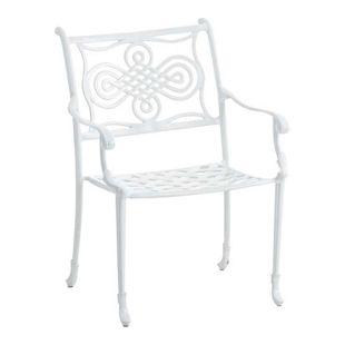 CLP Gartenstuhl RAJANA stapelbar, Stuhl aus Aluminium-Guss, Nostalgischer Look, max. Belastbarkeit 136 kg,