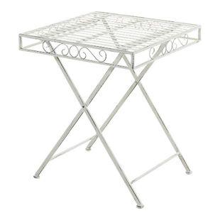 CLP Eisentisch FUNDA im Jugendstil I Robuster Gartentisch mit kunstvollen Verzierungen I Kompakter Tisch mit eckiger Tischplatte I In verschiedenen Farben erhältlich