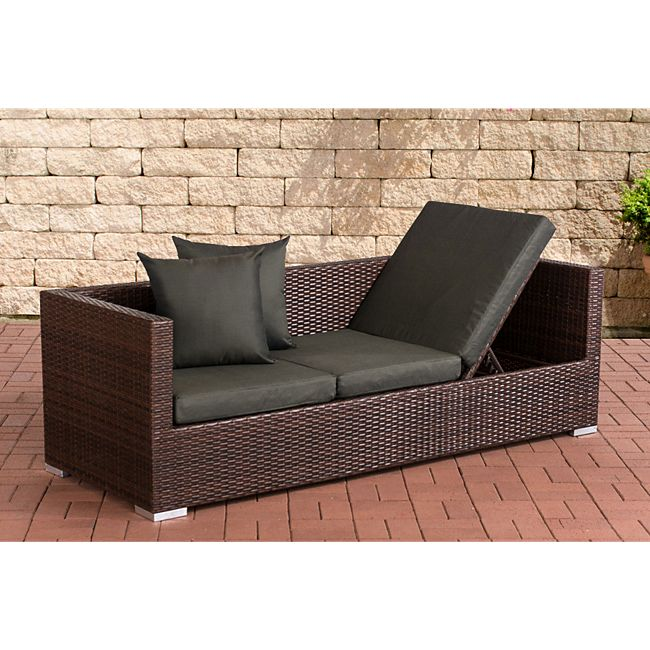 clp polyrattan loungesofa solano mit h henverstellbaren seitenteilen i sonnenliege aus. Black Bedroom Furniture Sets. Home Design Ideas