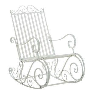 CLP Eisen-Schaukelstuhl SMILLA im Landhausstil I Schwingstuhl mit hoher Rückenlehne I In verschiedenen Farben erhältlich
