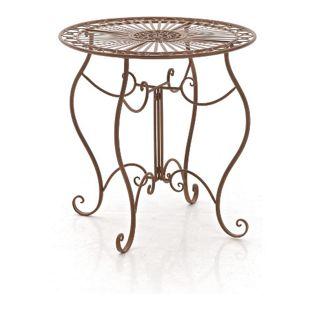 CLP Eisentisch INDRA in nostalgischem Design I Gartentisch mit geschwungenen Beinen I In verschiedenen Farben erhältlich