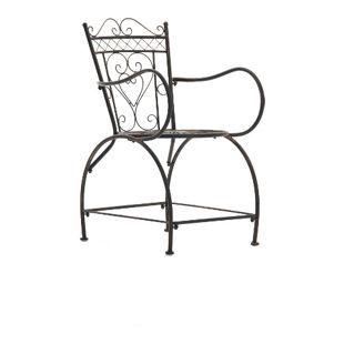 CLP Gartenstuhl SHEELA im Jugendstil | Metallstuhl mit geschwungenen Armlehnen | Antiker handgefertigter Gartenstuhl aus Metall | In verschiedenen Farben erhältlich