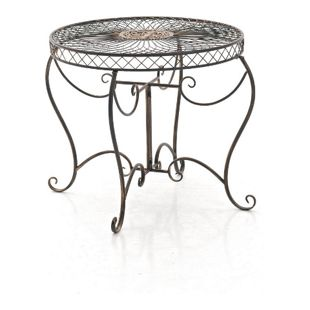 CLP Eisentisch SHEELA im Jugendstil I Gartentisch mit geschwungenen Beinen und kunstvollen Verzierungen I In verschiedenen Farben erhältlich