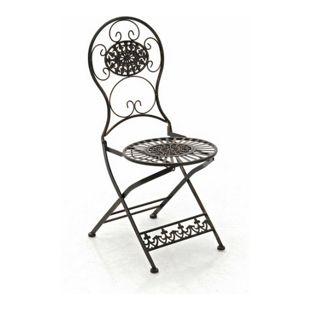 CLP Eisen-Klappstuhl MANI im Jugendstil I Antiker handgefertigter Gartenstuhl aus Eisen I In verschiedenen Farben erhältlich