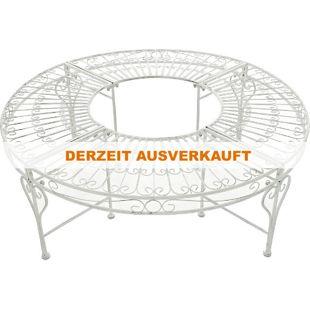 CLP Rundbank NYIMA mit kunstvollen Verzierungen im Jugendstil I Baumbank aus lackiertem Eisen I In verschiedenen Farben erhältlich